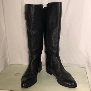 Isola tall black leather boot side zip 6.5